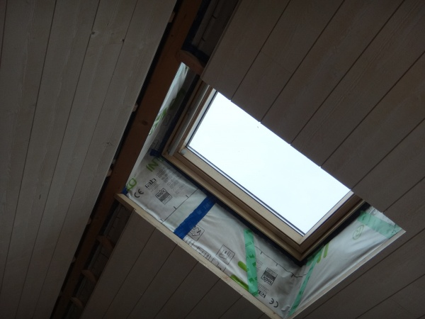 Finition d'un velux